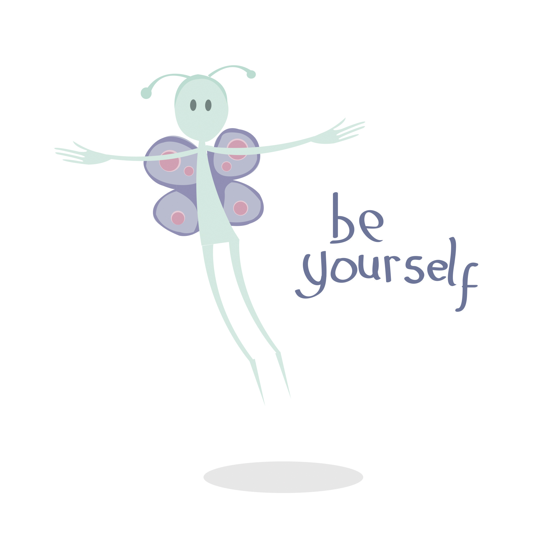 Be yourself illustrated greetings card wake up screaming an be yourself illustrated greetings card matt witt illustration kristyandbryce Image collections