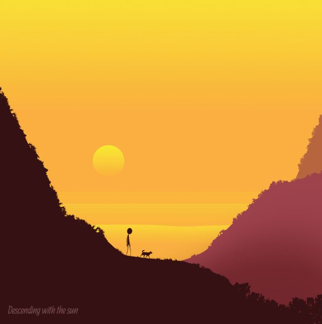 decending-with-the-sun-illustrated-greetings-card-matt-witt-illustration