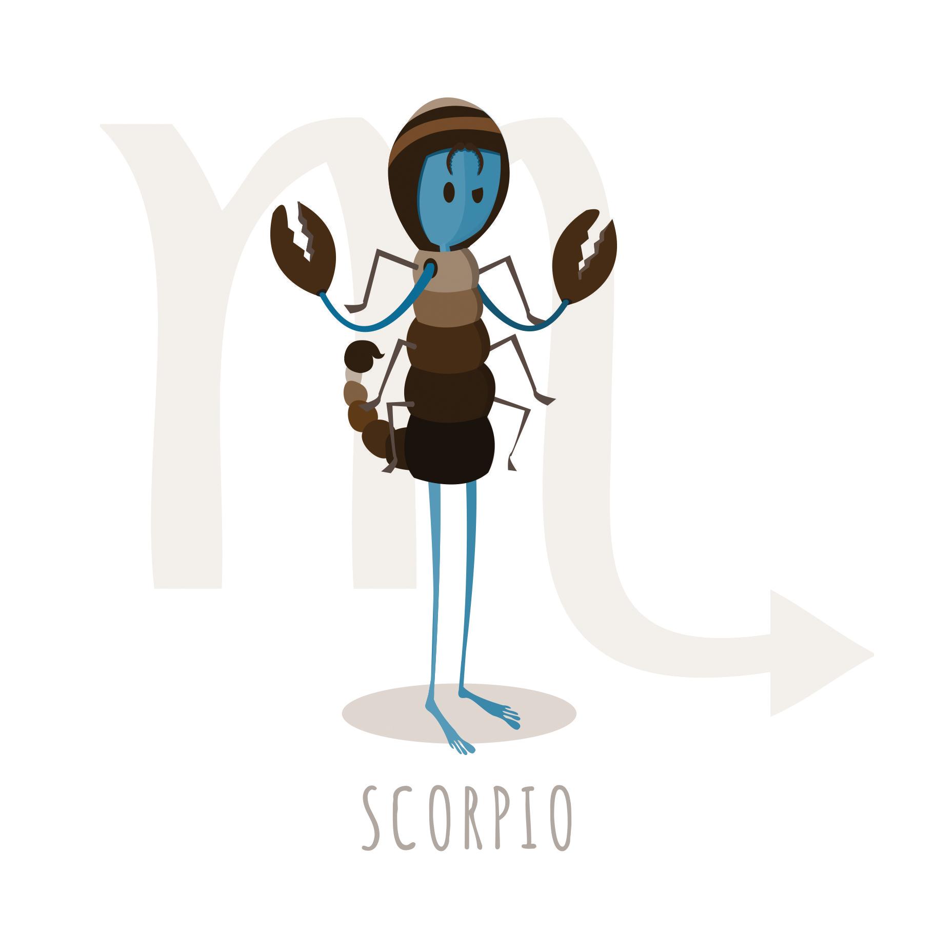 Scorpio zodiac illustrated greetings card wake up screaming an scorpio illustrated greetings card matt witt illustration kristyandbryce Image collections