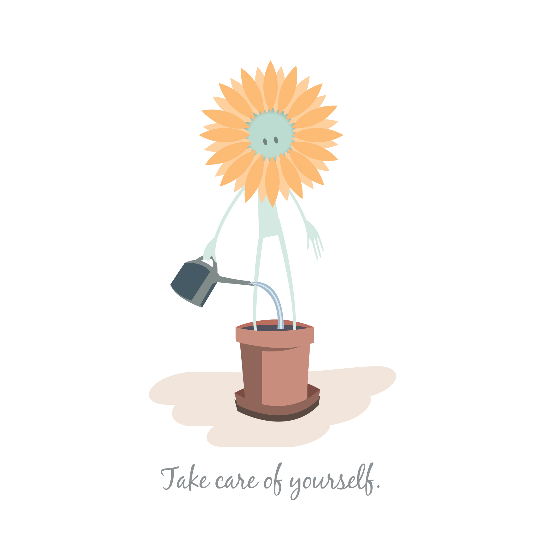 Take care of yourself illustrated greetings card wake up take care of yourself illustrated greetings card matt kristyandbryce Image collections