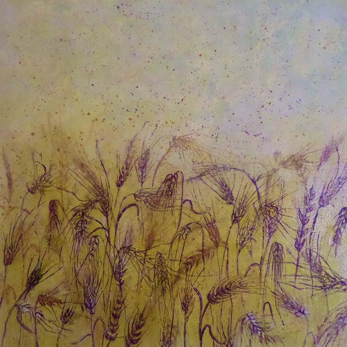 Purple Snow - Golden Wheat Field Magic copy