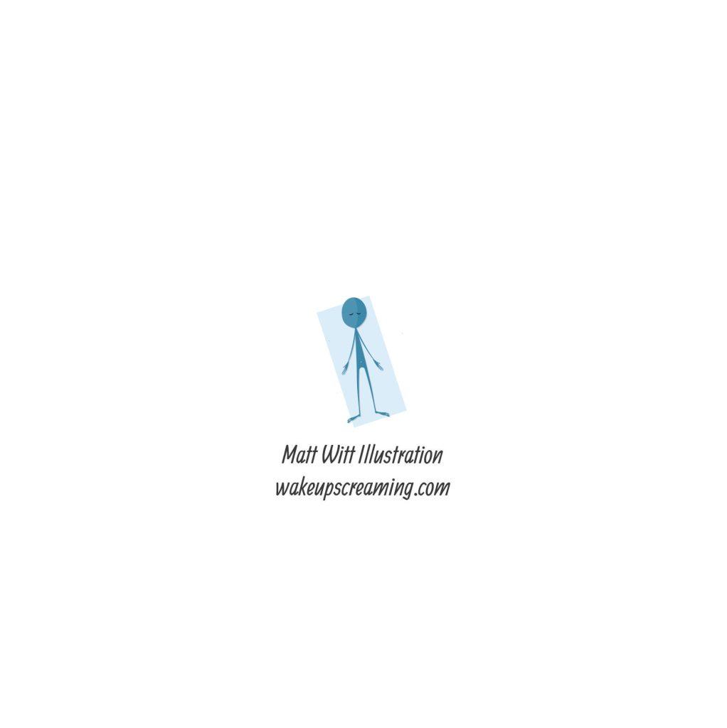 Savasana – Yoga Illustrated Greetings card – Wake up ...