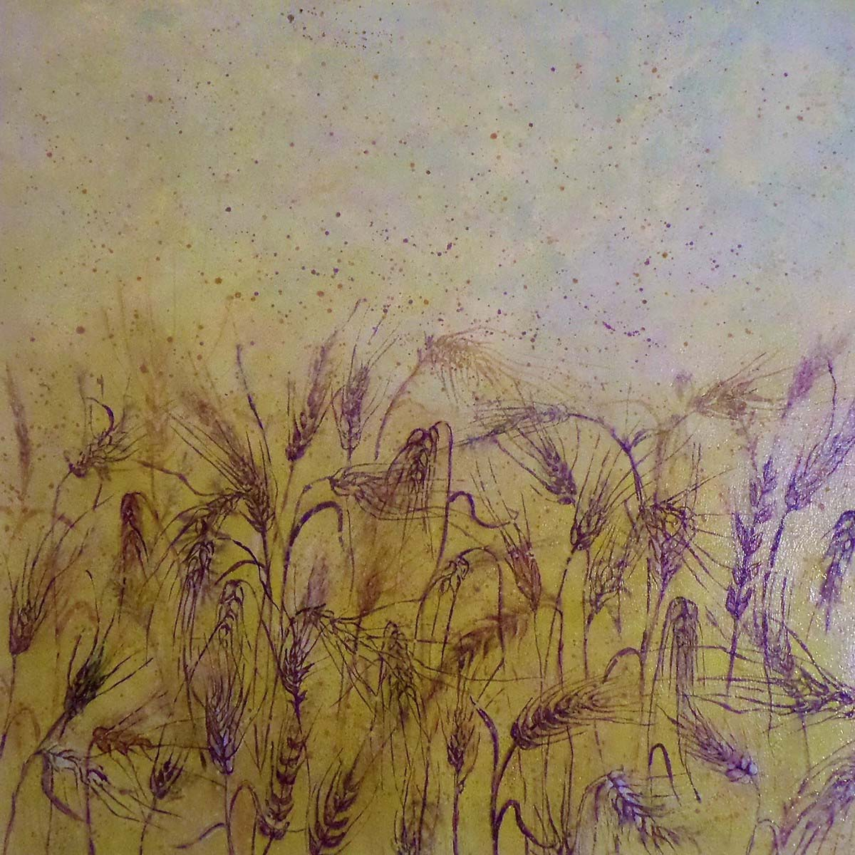 Purple Snow - Golden Wheat Field Magic copy