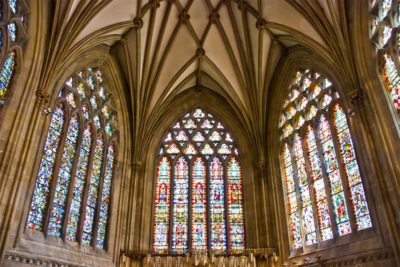 Wells Cathedral - The Lady Chapel, Stained Glass